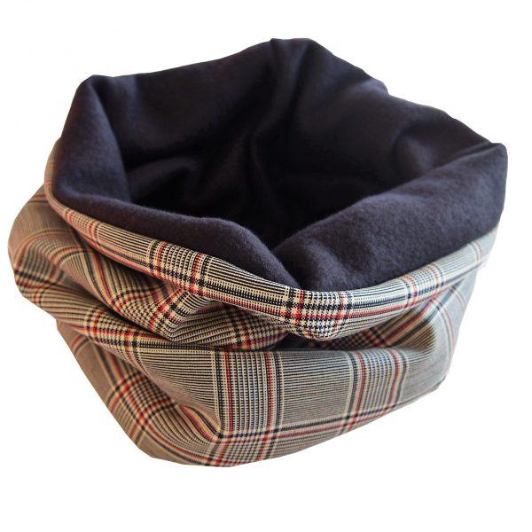 Snood à carreaux homme - L'Atelier du Bourget - Artisanat textile français