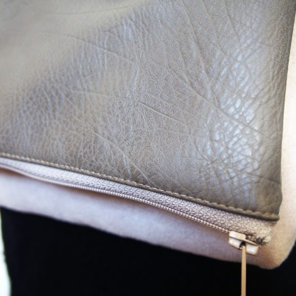 Sac bi-matière vegan avec bandoulière amovible - L'Atelier du Bourget - Artisanat textile français