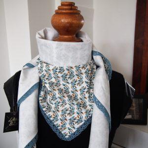 Foulard réversible printemps - L'Atelier du Bourget - Artisanat textile français
