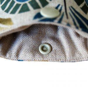 Etui lunettes Plumes de paon bleues - L'Atelier du Bourget - Artisanat textile français