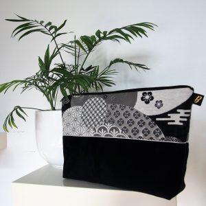 Trousse de toilette bicolore- L'Atelier du Bourget - Artisanat textile français