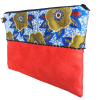 Pochette plate bicolore - L'Atelier du Bourget - Artisanat textile français
