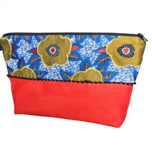 Trousse de toilette bicolore - L'Atelier du Bourget - Artisanat textile français