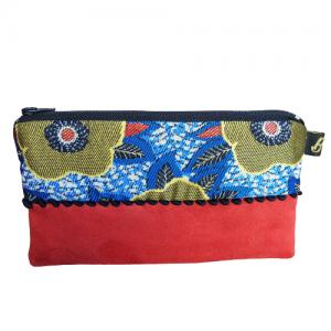 Petite pochette bicolore - L'Atelier du Bourget - Artisanat textile français